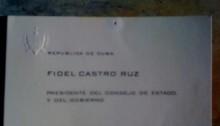 Fidel Castro's Calling Card